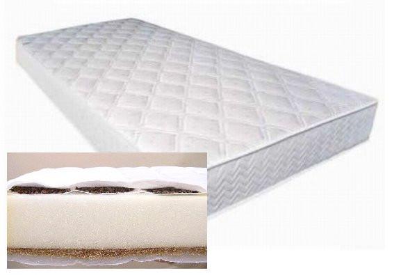 Matrace pohanka-molitan-kokos 120x60 cm bílá