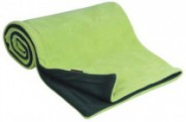 Deka fleece 70x100 cm Antracit + Limetka